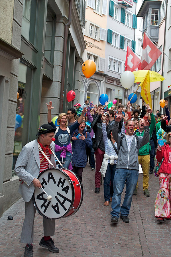 weltlachtag lachparade zuerich 2015